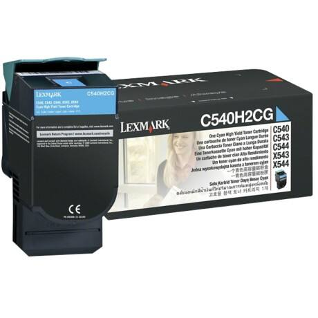 Lexmark C540H2CG Original Toner Cartridge Cyan