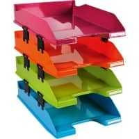 Exacompta Letter Tray Combo Polystyrene Assorted 25.4 x 24.3 x 34.6 cm 4 Pieces