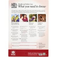 Health and Safety Poster Health and Safety Law PVC 41.5 x 59.5 cm