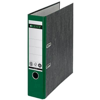 Leitz 180° Lever Arch File 1080 Marbled CO2 Neutral 80 mm 100% Recycled Card A4 Green