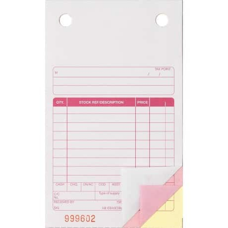 "3-Part Register Sets-Trade Sales Receipt (VAT Box) 6 1/2"" X 4"""