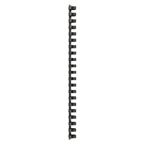 GBC Combbind A4 Plastic Binding Comb Black 21 Ring 145 Sheet Capacity 16 mm 100 Per Pack