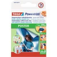 tesa Powerstrips Poster Powerstrips White 40 mm 20 pieces