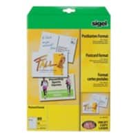 Sigel Postcards LP711 A6 185gsm White 20 Sheets of 4 Pieces