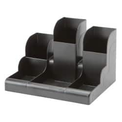 Niceday Desk Tidy 6 Compartments H108xW150xD110mm Black