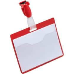 Durable Visitor Name Badges 60 x 90 mm - Red