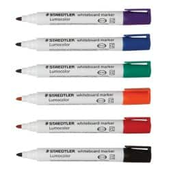 STAEDTLER Whiteboard Marker 351 WP6 bullet 2 mm assorted 6 pieces