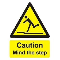 Warning Sign Caution Mind The Step PVC 200 x 150 mm