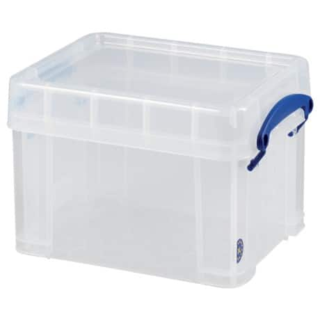 Really Useful Box polypropylene plastic storage box 3 L (160 x 180 x 245 mm H x W x D) in Clear