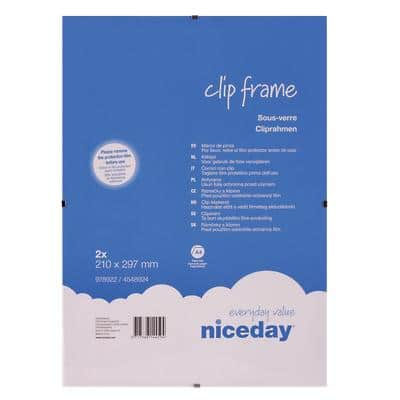 Niceday Clip Frame 297 H x 210 W mm 2 Per Pack