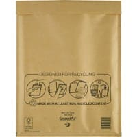 Sealed Air Mailing Bags H/5 79gsm Gold Plain Peel and Seal 290 x 370 mm 50 Pieces