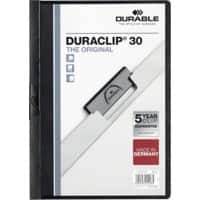 Durable Duraclip 3 mm Folder – Black