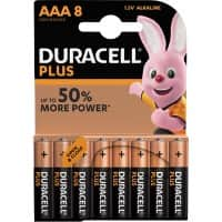 Duracell AAA Alkaline Batteries Plus Power MN2400 LR03 1.5V 8 Pieces