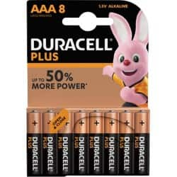 Duracell Battery Plus Power AAA 8 pieces 8 pieces