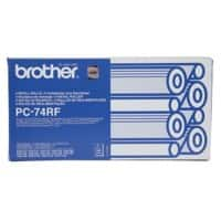 Brother Original Thermal Transfer Film quad pack PC74RF Black 4 pieces
