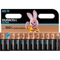 Duracell AA Alkaline Batteries Ultra Power MX1500 LR6 1.5V Pack of 12