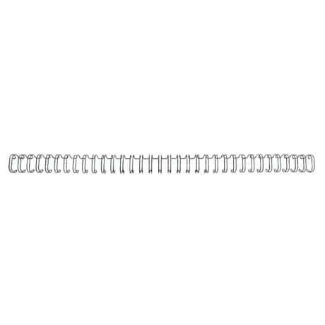 GBC 45-sheet capacity wire binding combs – black 34-ring 6 mm (100 pack)