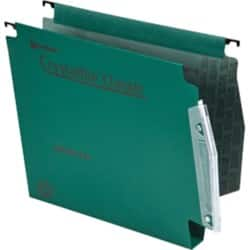 Rexel Crystalfile Classic Lateral Suspension Files Manilla 30 mm Capacity W 275 x H 280 mm Green - Box 50