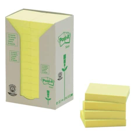 Post-it Sticky Notes 38 x 51 mm Yellow 24 Pieces of 100 Sheets