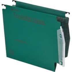 Rexel Crystalfile Classic Lateral Suspension Files Manilla V-Base 15 mm Capacity W 275 x H 280 mm Green - Box 50