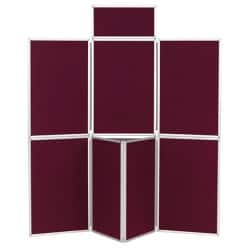 7 Panel Display Unit Wine 923 H x 619 W mm