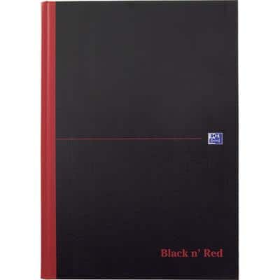 OXFORD Black n' Red Casebound Notebook Ruled A4 192 Pages