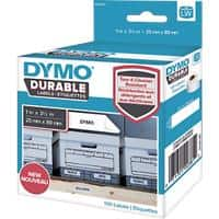 DYMO LW Durable Multi-purpose Labels 1976200 Black on White 25 mm x 89 mm 100 Labels