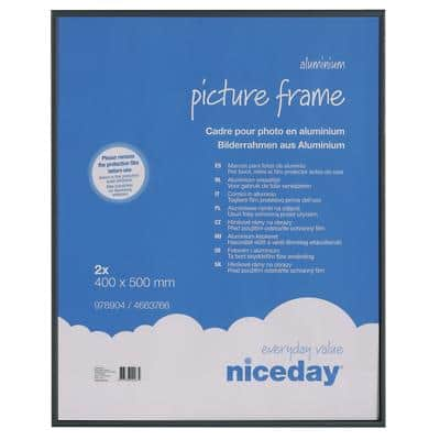 Niceday Picture Frame Black 2 Pieces 400 x 500 mm
