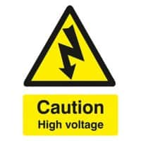 Warning Sign High Voltage PVC 15 x 20 cm
