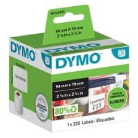 DYMO Multipurpose Labels 99015 54 x 70 mm White