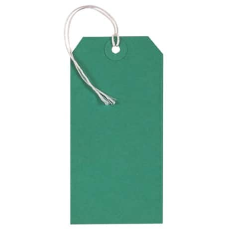 Coloured String Tags - Green