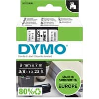 DYMO Labelling Tape 40913 9 mm x 7 m black / white