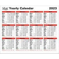 Letts Yearly Calendar 2021 White