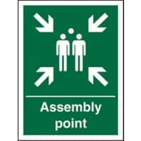 Safety Procedure Sign Fire Assembly Point Self Adhesive Vinyl 200 x 150 mm