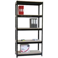 Shelving Unit 5 Tier Black 700 x 300 x 1,500 mm