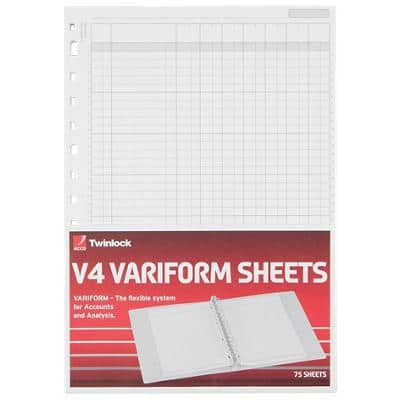 ACCO Refill Sheets 75933 A4 21 x 29.7 cm White 75 Sheets