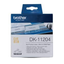 Brother DK-11204 QL Multipurpose Labels 17 x 54 mm White Roll of 400