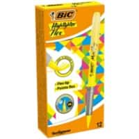 BIC Highlighter Flex Yellow Pack of 12