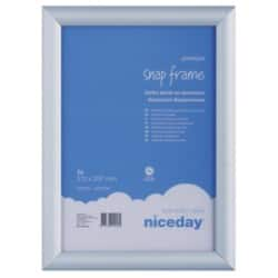 Niceday Aluminium Snap Frame  Internal dimensions 297 H x 210 W mm,External dimensions 327 H x 240 W mm