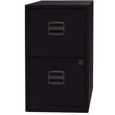 Bisley Filing Cabinet 2 Drawers Black 413 x 400 x 672 mm