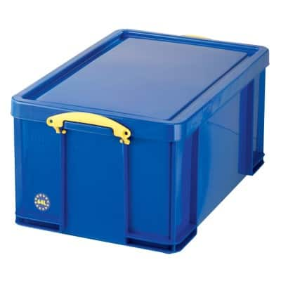 Really Useful Boxes Storage Box With lid Blue 31 x 44 x 71 cm