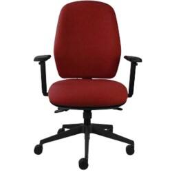 Energi-24 'Back care' posture operators chair in burgundy