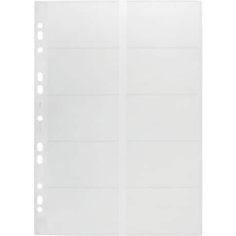 DURABLE Business Card Holder 2389-19 A4 Clear 57.0 x 90.0 mm 10 Pieces