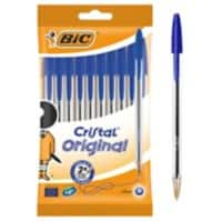BIC Ballpoint Pen Cristal 0.4 mm Blue Pack 10