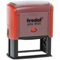 Trodat Custom Text Stamp Printy N4926 Black, Red 2.2 x 2.2 x 5.8 cm