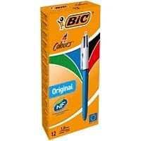 BIC 4 Colours Retractable Ballpoint Pen Medium 0.4 mm Pack of 12