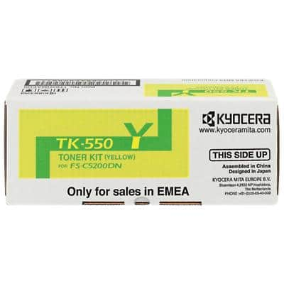 Kyocera TK-550Y Original Toner Cartridge Yellow