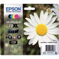 Epson 18XL Original Ink Cartridge C13T18164012 Black & 3 Colours 4 Pieces