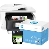 HP Printer OfficeJet 8720 + HP 953XL Ink Black +  2500 Sheets HP Office Paper A4