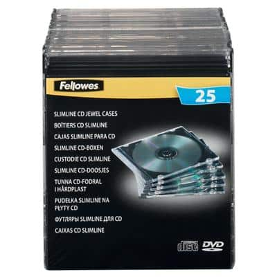 Fellowes CD Jewel Cases Polystyrene 25 Pieces